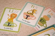 Alphabet+Card+Set++In+a+Little+Teacup+Animal+by+sherimcculley,+$38.00