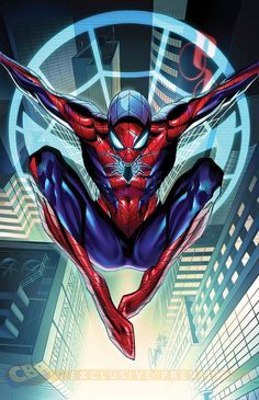 The Amazing Spider-Man #1 by J. Scott Campbell, colours by Nei Ruffino.                                                                                                                                                                                 More