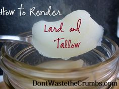 How to Render Lard (Pork Fat) and Tallow (Beef Fat) « Don't Waste the Crumbs!
