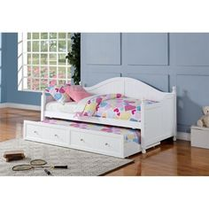 Lowest price online on all Coaster Daybed with Trundle in White - 300053