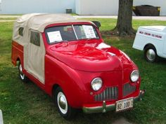 .Crosley came out with the first SUV in late 1947 -- a variation of their popular wagon