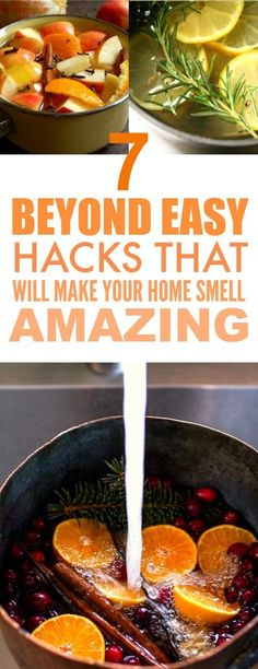 These 7 Genius Smell Hacks are SO GOOD! They really are easy and they smell GREAT! I'm so happy I found this, I know my home is going to smell SO GOOD. Definitely pinning for later!