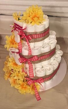 Bbq baby shower diaper cake