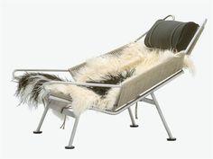 Steel armchair PP225 THE FLAG HALYARD CHAIR by PP Møbler   design Hans J. Wegner