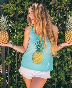 Pineapple Tank Cute Maxi Skirts, Cute Dresses, Cute Aprons, Summer Styles, Cute Gifts, Pineapple, Daisy, Boutique, My Style