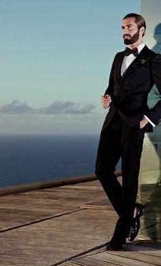 ♂ Masculine & elegance men's fashion wear  man in black