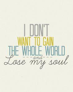 Toby Mac  Lose My Soul  8x10 Lyric art print by gbloomstudio, $15.00
