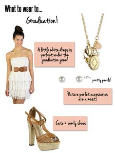 Stumped about what to wear on graduation? Click through to see what our picks are for the big day!