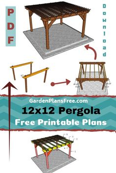 Outdoor Projects, Garden Projects, Home Projects, Crafty Projects, Outdoor Ideas, Free Standing Pergola Plans, Backyard Pergola, Outdoor Pergola, Pergola Ideas