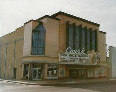 Crest Theater formerly located at 4825 E Douglas, Wichita KS