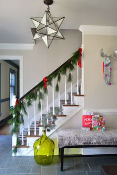 Young House Love - Hallway color-- edgecomb gray by BM