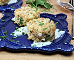 Rated 8 - Baked Horseradish Crab Cakes, Really good with imitation crab. Not crazy about the sauce, needs a bit of tweaking. Healthy Crab Cakes, Baked Crab Cakes, Seafood Dishes, Fish And Seafood, Seafood Recipes, Healthy Cooking, Cooking Recipes, Healthy Recipes, Healthy Foods