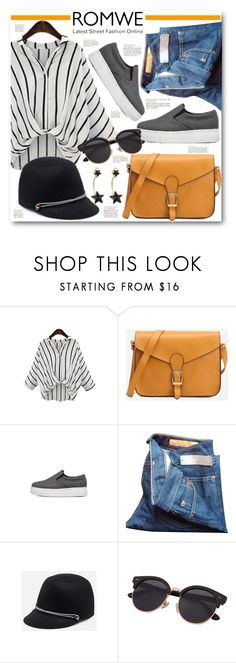 """ROMWE Yellow Buckle Bag"" by brendariley-1 ❤ liked on Polyvore featuring J.Crew"