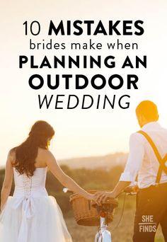 10 Mistakes Brides Make When Planning An Outdoor Wedding