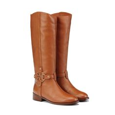 Tory Burch Mae  Brown Riding Boots