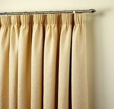 Window Treatments - pencil pleat curtains
