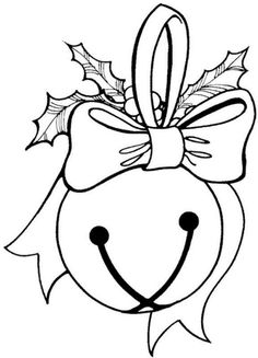 Christmas Bells Coloring Page 3  Coloring For kids and Coloring