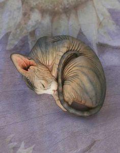 Sphynx Cat Resin UNPAINTED Figurine Blank Kit by DeborahMcDermott, $25.00