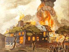 Pyramid of Fire, 1929, Charles E. Burchfield
