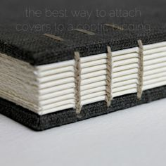 the best way to attach covers to a coptic binding - by Kaija Rantakari / paperiaarre.com