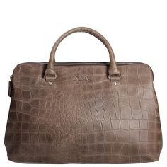 by LouLou handtas Vintage Croco dark brown 12BAG04S 01