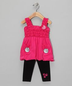 Pink Tunic & Leggings from Diva on #zulily!