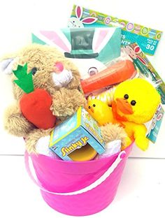 Easter gift basket chick private label httpamazondp easter gift basket pink 10 pc private label http negle Gallery