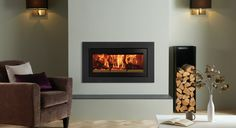 Studio Steel XS Inset Wood Burning Fires - Stovax built-in fires
