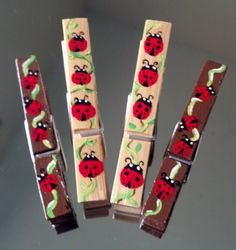 Hand painted clothespin set! lady bugs, $6.00 on etsy.