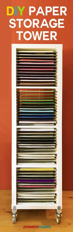 Paper Storage DIY | 12 x 12 Scrapbook Paper Storage Tower | IKEA Hack