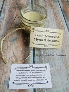 Homemade Frankincense & Myrrh Body Butter Pin