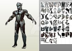 Genji Pepakura Foam Template, please contact for more info. Example works from this file constrictorz.deviantart.com/ar…