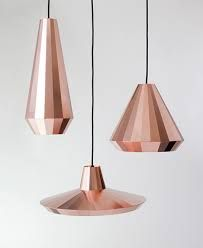 Copper hanging lamps. Yes please!
