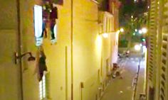 Paris attacks: People clamber out of Bataclan concert hall to escape gunfire – video 11/14/15 - Le Monde journalist Daniel Psenny, who lives overlooking the Bataclan concert hall, has posted a video of people climbing out of windows and running from the emergency exit as gunfire breaks out