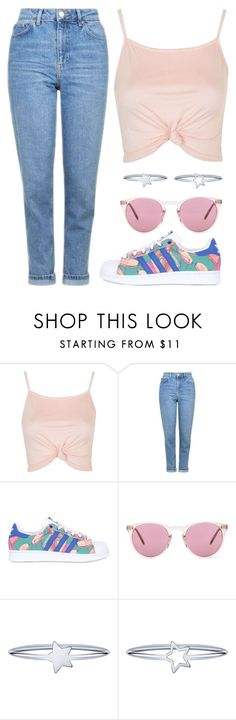 """""""Untitled #623"""" by cece-cherry ❤ liked on Polyvore featuring Topshop, adidas Originals and Oliver Peoples"""