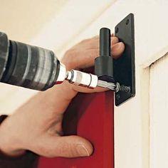 install the upper hinge pintles for exterior shutters