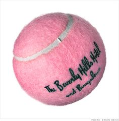 The Beverly Hills Hotel pink tennis ball.  I would love one of these!