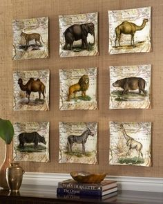 Safari Wall Plates from John Derian Company.