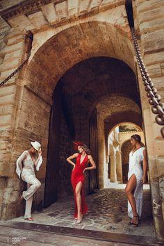 Ibiza Style  Editorial with: Anita Moreno, Barbara Hermosilla, Naiara, Petite Amie (Complements), Katindorfi MakeUp & Ivanna Mestres (dress)