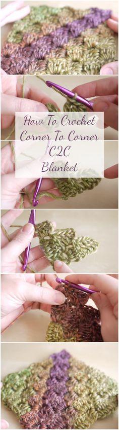 How To Crochet Corner To Corner 'C2C' Blanket