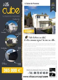 Création pub pour la vente de la Villa CUBE de Villas Concept, constructeur de maisons contemporaines à Salon-de-Provence #pub