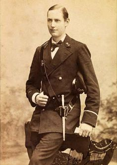 Prince Carl of Denmark, later King Haakon VII of Norway, in 1889