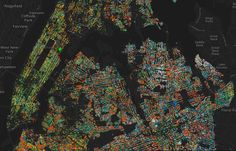 Map of the array of trees in #NYC #EarthDay #environment