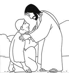 colouring jesus heal boy - Google Search