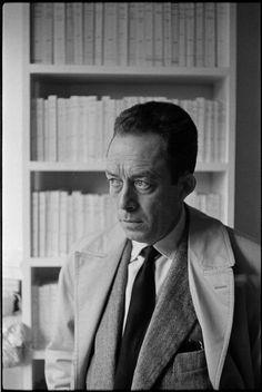 Albert Camus: Foto: Henri Cartier Bresson - Paris, 1956 -