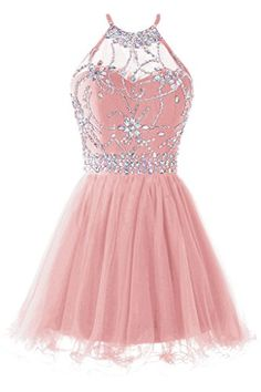 Musever Women's Halter Short Homecoming Dress Beading Tul... https://www.amazon.com/dp/B01LXLSI27/ref=cm_sw_r_pi_dp_x_2Cf2yb00GKFA9