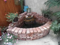 build your own brick waterfall