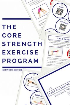 The Core Strengthening Exercise Program - The Inspired Treehouse: A comprehensive and innovative core strengthening program for kids (and adults!) Featuring QR codes with video demo of each activity. Activities For Adults, Gross Motor Activities, Gross Motor Skills, Sensory Activities, Therapy Activities, Therapy Ideas, Sensory Kids, Sensory Motor, Pediatric Occupational Therapy