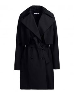 Black Waist Tie Trench Coat