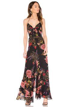 1eea73eb851 NICHOLAS Peony Floral Spiral Jumpsuit em Peony Print Jumpsuit Elegante